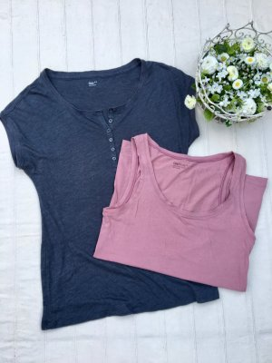 SET: GAP Shirt, blau + GAP Body, Rosé (36/38)