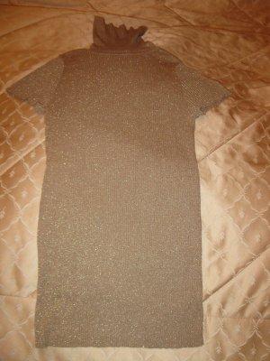 Set: Goldbeige Rollkragenpulli+ passende Hose in Taupe/Beige, D34, + passende Bluse