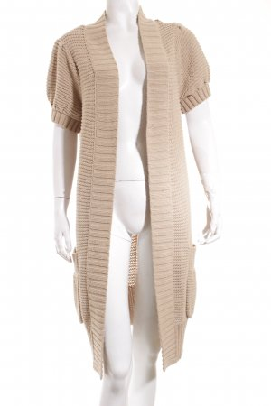 Set Coarse Knitted Jacket beige casual look