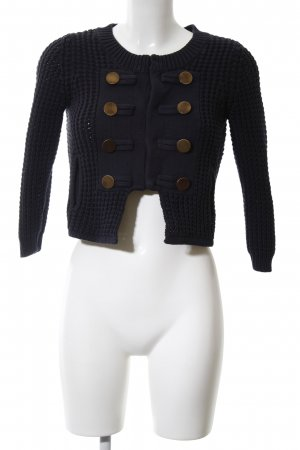 Set Coarse Knitted Jacket brown allover print casual look