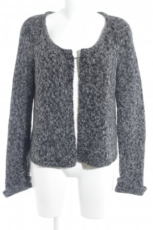 Set Coarse Knitted Jacket flecked casual look