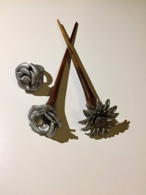 Hair Accessory brown-silver-colored