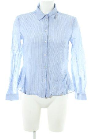 Set Hemd-Bluse himmelblau-wollweiß Streifenmuster Business-Look