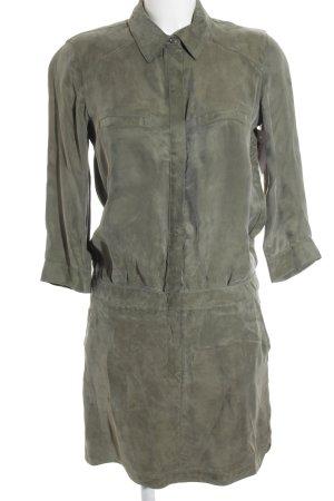 Set Hemdblusenkleid khaki-olivgrün College-Look
