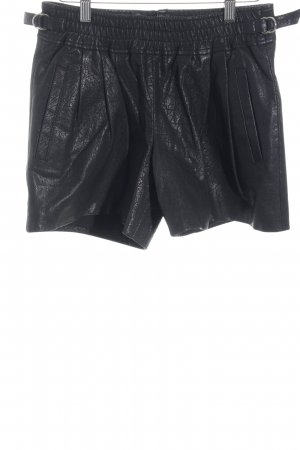 Set High-Waist-Shorts schwarz Biker-Look