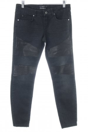 Set Low Rise jeans zwart elegant