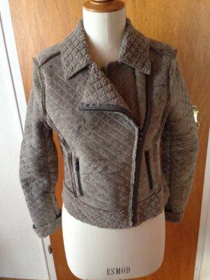 Set Jacke warm weich Schlamm beige grau neu Etikett