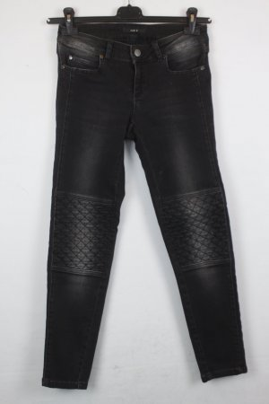 SET Jeans Gr. 36 schwarz Biker Stil (18/3/070/R)