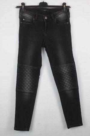 SET Jeans Gr. 36 schwarz Biker Stil (18/3/070/R/K)