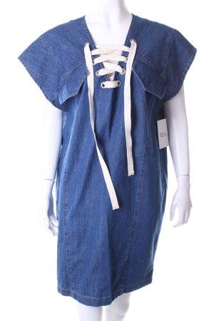 Set Jeanskleid blau Retro-Look