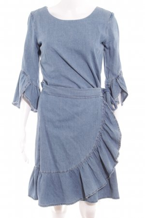 Set Jeanskleid himmelblau Street-Fashion-Look