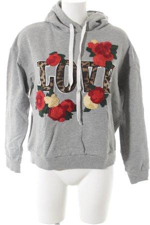 Set Sweatshirt met capuchon geborduurde letters atletische stijl