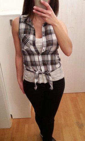 Set Karo Hemd zum binden & Crop Top von Vero Moda