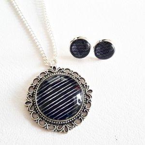Chain black-silver-colored