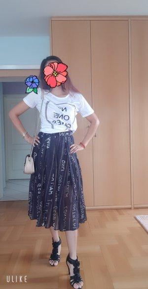 100% Fashion Strandjurk wit-zwart