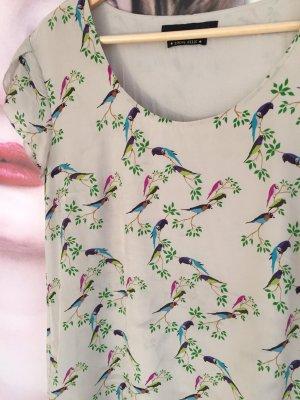Set Kleid Seide 42 Vögel