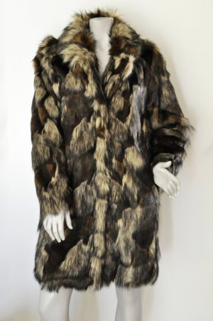SET Kunstfell Mantel Fake Fur Faux Fur braun UNGETRAGEN Gr. 38