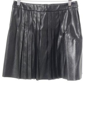 Set Kunstlederrock schwarz Casual-Look