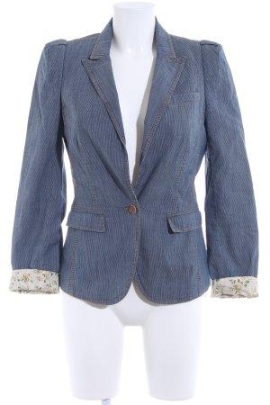 Set Kurz-Blazer dunkelblau-weiß Nadelstreifen Business-Look
