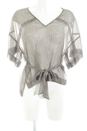 Set Kurzarm-Bluse abstraktes Muster Business-Look