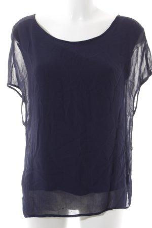 Set Kurzarm-Bluse dunkelblau Elegant