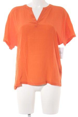 Set Kurzarm-Bluse orange