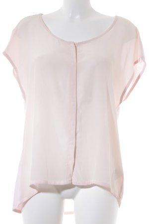 Set Kurzarm-Bluse rosé Casual-Look