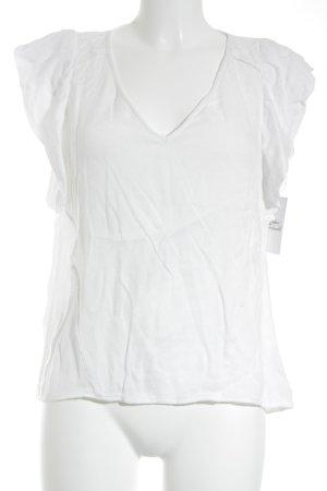 Set Kurzarm-Bluse wollweiß Elegant