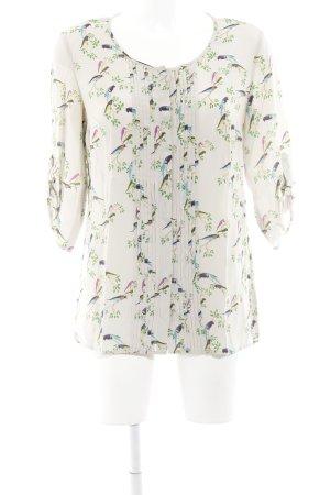Set Shirt met korte mouwen licht beige dierenprint dierenprint
