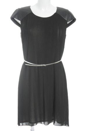 Set Kurzarmkleid schwarz-silberfarben Elegant