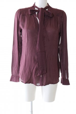 Set Langarm-Bluse rot Allover-Druck Business-Look