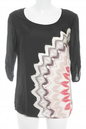 Set Blouse met lange mouwen abstract patroon casual uitstraling