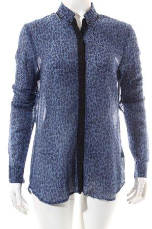 Set Langarm-Bluse blau-kornblumenblau Leomuster Casual-Look