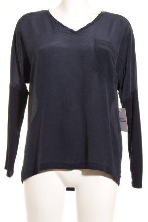 Set Langarm-Bluse dunkelblau Casual-Look