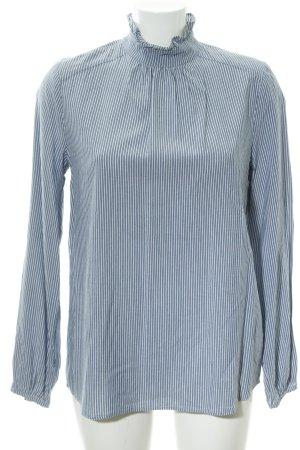 Set Langarm-Bluse graublau-weiß Streifenmuster Casual-Look