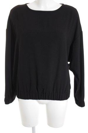 Set Langarm-Bluse schwarz schlichter Stil
