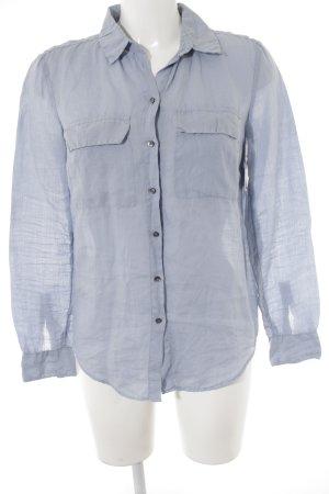Set Shirt met lange mouwen azuur casual uitstraling