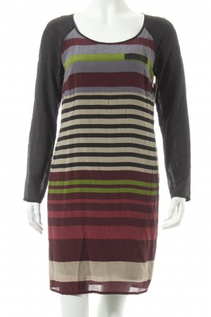 Set Langarmkleid Streifenmuster Casual-Look