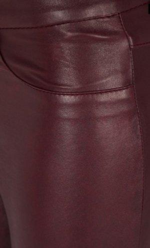 SET Lederhose Lederleggings Bordeaux SKINNY 5-POCKET