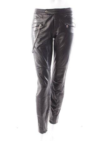 Set Lederhose schwarz