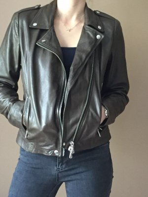SET Lederjacke im Bikerstil