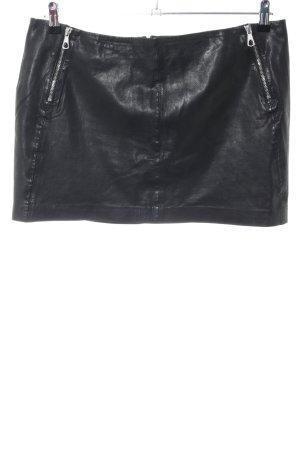 Set Lederrock schwarz Casual-Look