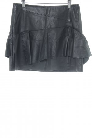 Set Leather Skirt black casual look
