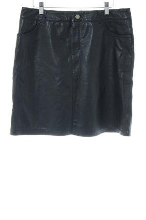 Set Lederrock schwarz-silberfarben klassischer Stil