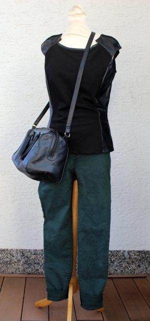 SET Ledertop + Stretchhose + Handtasche