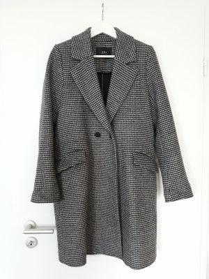 Set Manteau mi-saison blanc-noir laine