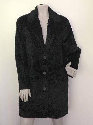SET Mantel Persianeroptik schwarz Gr. 40 NEU OHNE ETIKETT Kunstfell Fake Fur
