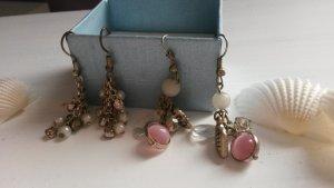 Set Ohrhänger gold und rosafarben