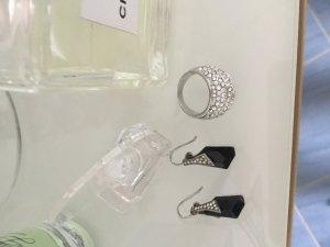 Set, Ohrringe Echtsilber und Ring ( Modeschmuck)