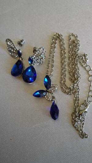 Collier Necklace silver-colored-blue